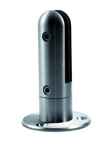 Ogromnie Mocowanie podłużne szkła gr. 12-17,52 mm, zaokrąglone, wys. 165 mm ZY26
