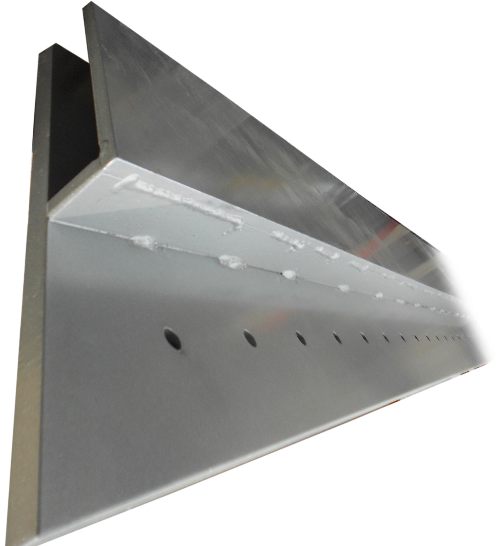 Chłodny Profil do balustrady szklanej zewnętrznej, stal ocynkowana HB21